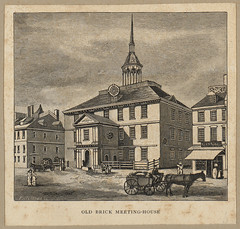 Old brick meeting-house (Boston Public Library) Tags: churches engraving prints historicbuildings