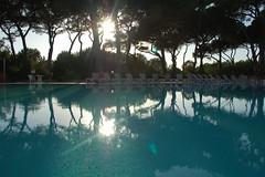 Toscana Settembre 2013 (Barracuda PRJ19) Tags: sunset italy sun colors landscape nikon italia tramonto piscina nikond50 swimmingpool toscana hostesses crepuscolo robybprj19 hoteleresidencecortedeitusci