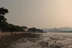 shadowy fog comes between hill and shore (samuel.w photography) Tags: fujifilm macau x100s samuelslphotography