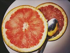 Day 71 - Grapefruit (Pamela.Dore) Tags: fruit pad spoon bowl photoaday grapefruit pad2015