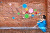 Teneriffe Bubble Lady (adamsgc1) Tags: blue streetart wall graffiti teneriffe buble ferrylanding bubblelady