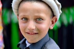 Look into my eyes.... (Umair Ashfaq) Tags: people green beautiful hat eyes nikon locals valley d800 80200 chitral umairashfaqphotography studiodiligence kelasha