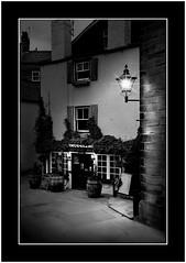 The  Smugglers  Inn (SFB579 Namaste) Tags: old people blackandwhite house heritage public beer lamp stone night drunk vintage coast twilight village wine drink barrels pirates ale social tourist entertainment coastal lampost landlord publichiouse