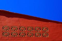 Minimalisme (1) RED & BLUE  Explore 06/07/2015 (jo.misere) Tags: blue red spain blauw shadows rood spanje patronen paterns schaduwen minimalisme tamron1750