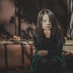 Miss E (Photo Alan) Tags: girl portrait fall face shadow autumn vancouver canada