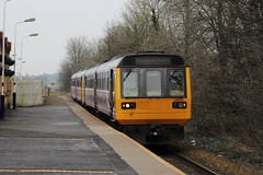 Northern 142051, Kirkham & Wesham 18/02/17 (TC60054) Tags: northern rail arriva north class 142 pacer railbus train leyland 051 142051