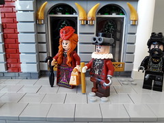 Citizens of San Victoria (Zilmrud) Tags: lego moc minifigure steampunk figs street san victoria swebrick modular house building steam punk