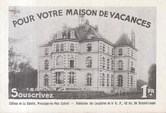 Château de la Valette - Pressigny-les-Pins (desparlsp) Tags: châteaudelavalette pressignylespins château valette pressigny pins publicité opérationimmobiliaire immobiliaire 1930