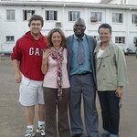 Zomba-Malawi visit. Pictured: Barry Pittendrigh, Julia Bello, Merle Bowen, and Malawian colleague.