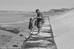 Helping Hand (karllaundon) Tags: family sea summer sun cute beach fun happy seaside day child laugh northeast rockpool redcar