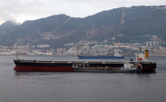 Medi Lausanne & Yemaoil XIV (PhillMono) Tags: cruise media ship harbour lausanne gibraltar tanker xiv yemaoil