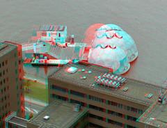 Rijnhaven koepels Rotterdam 3D (wim hoppenbrouwers) Tags: 3d rotterdam anaglyph stereo redcyan rijnhaven koepels drijvendpaviljoen geodetischekoepels drijvendpaviljoenmetgeodetischekoepels