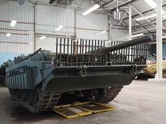 Strv 103 S-Tank (Megashorts) Tags: swedish strv 103 stank army war military tank armoured armour armor armored fighting vehicle museum tankmuseum bovingtontankmuseum bovington dorset uk 2014 olympus omd em10 inside mki mk1 tankfest tankfest2014 ppdcb4 show