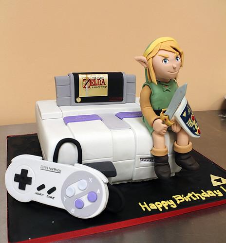 Zelda Super Nintendo Cake
