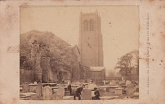 323. Chester - St. John's Church, from the North-East by Francis Bedford (1860s) (pellethepoet) Tags: church cemetery graveyard bedford europe cheshire unitedkingdom tombstone graves chester photograph gravestone cdv cartedevisite churchyard stjohnschurch francisbedford stjohnthebaptistschurch outdoorcdv