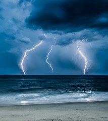Nags Head, NC Thunder storm offshore. (Dave Hallock) Tags: thunderstorm lightning outer outerbanks banks obx davehallock