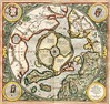 Gammelt kart over arktis. GERARDUS MERCATOR north pole map from 1595