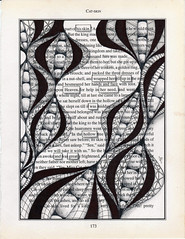 wrapped in heaven (Jo in NZ) Tags: blackandwhite drawing foundtext foundpoetry zentangle nzjo zendoodle