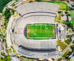 Byrd Stadium - Eagle's Eye View (hillels) Tags: drone drones gopro blade350 universityofmaryland umd terps collegepark fpv byrdstadium testudo fatshark quadcopter aerial maryland terrapins basketball madness marylandmadness 2016 xfinity comcastcenter athletics fans mens womens october