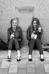 F**K YOU (Alistair Prentice.) Tags: street ireland girls white black sexy sign fuck belfast off northern