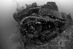 Truk Lagoon 2014 067 0300b San Francisco Maru foredeck tanks (tdpriest) Tags: world two japanese war underwater pacific truk shipwrecks select wrecks underwaterphotography chuuk
