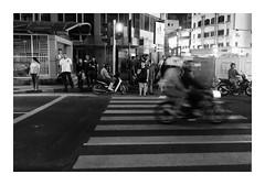 Zebra Crossing With Care  (FujiFilm X-E2) (Thainlin Tay) Tags: street city bw malaysia kuala lumpur