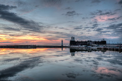 New Brighton marine lake reflections at sunset (Paul-Farrell) Tags: sunset lighthouse clouds canon reflections shot fort sigma 1020mm hdr wallasey marinelake wirral newbrighton merseyside bracketed 70d perchrock paulfarrell fagsy63