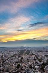Sunset Paris (olvwu | ) Tags: city light sunset sky cloud paris france skyline night skyscraper landscape cityscape dusk eiffeltower toureiffel montparnasse  tourmontparnasse montparnassetower   jungpangwu oliverwu oliverjpwu tourmainemontparnasse olvwu jungpang tourmontparnasse56
