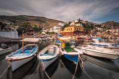 Restless (Nick Twyford) Tags: longexposure nopeople greece fishingboats hydra attica nisi earlymorninglight kamini ydra colourimage leefilters nikond800 lee09nd lee06gndsoft phottixgeoone nikkor1635mmf40