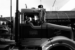 Reverse the rig (amancalledcraig) Tags: light blackandwhite white black truck photography photo australia rig hobart trucking haul hauler
