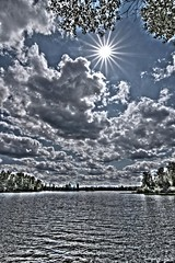 Summer Sundance (willkommen) Tags: sun water weather wisconsin clouds day earth air upnorth presqueisle partlycloudy areawide vilascounty nikond90 lakekatinka tokina1116mmf28atx116prodxautofocus