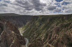 Tomichi Point, Black Canyon of the Gunnison National Park HDR (Brandon Kopp) Tags: travel vacation nature landscape nationalpark nikon colorado unitedstates cloudy outdoor canyon tokina montrose hdr gunnison blackcanyonofthegunnison blackcanyon d300 landscapephotography photomatix tomichipoint 1116mm