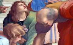 Raphael, Euclid and students (close)