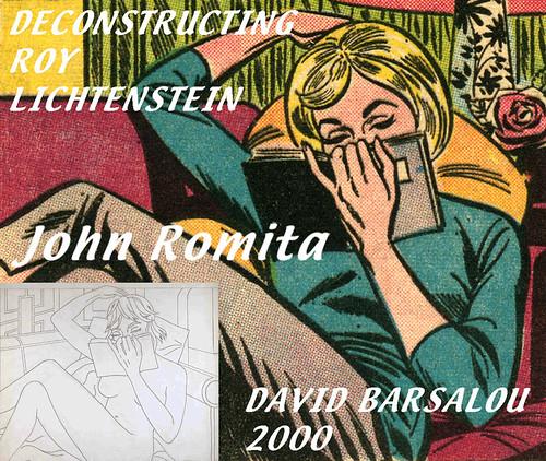 NUDE READING (STUDY) DECONSTRUCTING ROY LICHTENSTEIN © 2000 DAVID BARSALOU