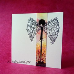 Stampotique Angel Boy card (Lindekes All Kind Of Shades) Tags: alcoholinks stampotique