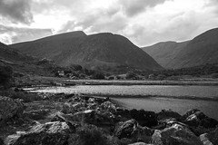 Black Valley #5 (jean matthieu) Tags: road trees ireland light summer vacation sky bw irish sun white lake holiday black color tree green art water stone clouds canon fun photography eos photo waterfall day august kerry burren lanscape 2014