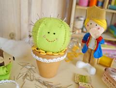 Agulheiro Cacto Divertido (PAP com molde) (BoniFrati) Tags: cactus cute diy craft feltro tutorial pap lepetitprince molde fel pequenoprncipe passoapasso bonifrati agulheiro