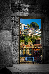 City beyond door (ClaudioSilva1981) Tags: door city summer urban sun portugal canon rebel kitlens porto 1855mm t3 lightroom 1100d