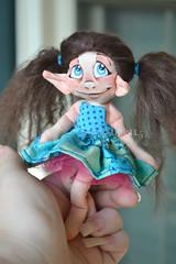 Custom Mini Pixie (Scribble Dolls) Tags: cute art toy happy miniature stuffed doll sweet handmade ooak small mini pixie plush softie fairy tiny handpainted plushie handsewn cloth pocket faerie sewn fae scribbledolls