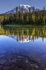 Mount Rainier from Reflection Lake (Bob Noble Photography) Tags: canon nationalpark canon1740 canon60d bobnoblephotography mountrainierfromreflectionlake