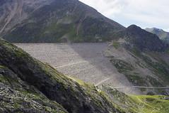 The Dam at Kuhtai (David J. Greer) Tags: summer mountain ski mountains alps walking austria tirol europe european outdoor hiking walk dam hike resort valley alp slope tyrol steep slopes sellrain kuhtai tyrollean vallies