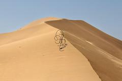 This Desert. This Beautiful Desert. (QueeN CooL) Tags: blue sky beautiful beauty sand waves desert wind dune saudiarabia