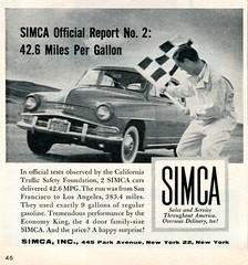 1958 Simca Advertisement Time April 21 1958 (SenseiAlan) Tags: time 21 advertisement 1958 april simca
