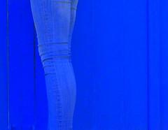blue (hansvandenberg30) Tags: wood blue france legs jeans newphotographers hansvandenberg