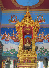 Wat Khao Rang Ubosot Abbot's Chair and Buddha (DTHP0557) วัดเขารัง ที่นั่งเจ้าอาวาส และ พระพุทธรูป อุโบสถ