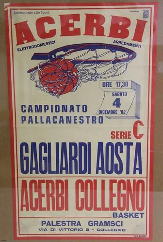 Manifesto Collegno Basket vs. Gagliardi Aosta - Serie C Maschile
