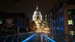 St. Pauls (Kacper Gunia) Tags: longexposure summer england london church night zeiss 35mm canon lights cathedral unitedkingdom stpauls luminance 6d distagon352ze cakper
