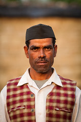 Indian man in chequered waistcoat and black hat (damonlynch) Tags: people india man male men fashion person thirties clothing intense asia adult masculine indian clothes human strong determined adults humanbeing waistcoat humans 30s intensity dapper humanbeings southasia thirtysomething southasian mensclothing champawat thirtyish 3055yearsold uttarakhand shyamlatal