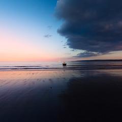 Sunset Moonrise, Filey (m A R K ∞) Tags: sunset sea september northyorkshire filey 2014 fileybrigg ©markharrowsmith