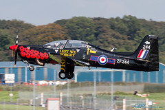 ZF244 S-312 Tucano T1 UK - Air Force (kw2p) Tags: canon aircraft short prestwickairport egpk zf244 canoneos7d ukairforce kennywilliamson s312tucanot1 egpkpik kw2p cns050t45